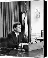 Camelot Canvas Prints - JFK Addresses The Nation  Canvas Print by War Is Hell Store