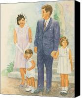 House Painting Canvas Prints - Jfk Family Canvas Print by Robert Casilla