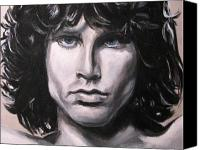 Morrison Canvas Prints - Jim Morrison - The Doors Canvas Print by Eric Dee