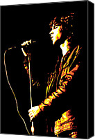Concert Canvas Prints - Jim Morrison Canvas Print by Dean Caminiti