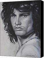 Morrison Canvas Prints - Jim Morrison Canvas Print by Eric Dee