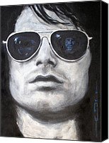 Morrison Canvas Prints - Jim Morrison III Canvas Print by Eric Dee