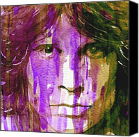 Photo  Painting Canvas Prints - Jim Morrison Canvas Print by Paul Lovering
