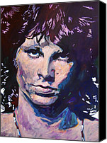 Legend Canvas Prints - Jim Morrison the Lizard King Canvas Print by David Lloyd Glover