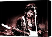 Fender Digital Art Canvas Prints - Jimi  Canvas Print by Andrea Barbieri