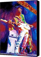 Psychedelic Canvas Prints - Jimi Hendrix - THE ULTIMATE Canvas Print by David Lloyd Glover