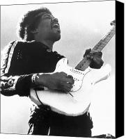 Music Photo Canvas Prints - Jimi Hendrix (1942-1970) Canvas Print by Granger