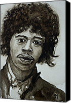 Guitar Hero Canvas Prints - Jimi Canvas Print by Pete Maier
