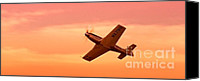 Sports Prints Canvas Prints - Jimmy Leeward and The Galloping Ghost Into the Sunset Canvas Print by Gus McCrea