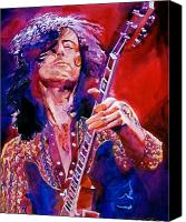 Guitar Hero Canvas Prints - Jimmy Page Canvas Print by David Lloyd Glover