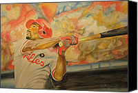 Jimmy Rollins Mixed Media Canvas Prints - Jimmy Rollins Canvas Print by Keith Hancock