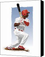 All Star Canvas Prints - Jimmy Rollins Canvas Print by Scott Weigner