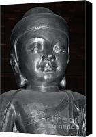 Meditate Canvas Prints - Jingan Silver Buddha - Shanghai China Canvas Print by Christine Till - CT-Graphics
