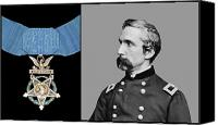 Moh Digital Art Canvas Prints - J.L. Chamberlain and The Medal of Honor Canvas Print by War Is Hell Store