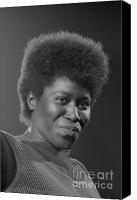 Musicians Canvas Prints - Joan Armatrading 4 Canvas Print by Philippe Taka