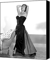 1950s Fashion Canvas Prints - Joan Crawford, 1955 Canvas Print by Everett