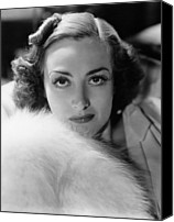 1930s Hairstyles Canvas Prints - Joan Crawford, Ca. Late 1930s Canvas Print by Everett