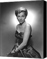 1950s Fashion Canvas Prints - Joan Fontaine, Ca. 1950s Canvas Print by Everett