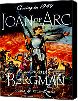 1948 Movies Canvas Prints - Joan Of Arc, Ingrid Bergman, 1948 Canvas Print by Everett
