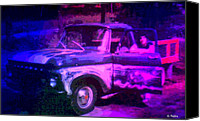Airbrush Art Digital Art Canvas Prints - Joe and the Pontiac Truck Canvas Print by George Pedro