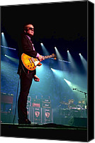 Music Tapestries Textiles Canvas Prints - Joe Bonamassa 2 Canvas Print by Peter Chilelli