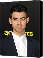 Minutes Photo Canvas Prints - Joe Jonas At Arrivals For 30 Minutes Or Canvas Print by Everett