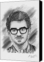 Kenal Louis Photo Canvas Prints - Joe Jonas Drawing Canvas Print by Kenal Louis
