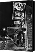 Barbecue Canvas Prints - Joes Real BBQ Canvas Print by Eddie Yerkish
