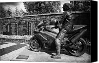 Joey Canvas Prints - Joey Dunlop memorial garden Ballymoney Canvas Print by Joe Fox