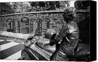Joey Canvas Prints - Joey Dunlop memorial garden in Ballymoney county antrim Canvas Print by Joe Fox