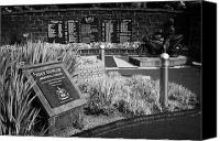 Joey Canvas Prints - Joey Dunlop memorial garden in Ballymoney county antrim northern ireland Canvas Print by Joe Fox
