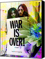 Yoko Canvas Prints - John and Yoko - War Is Over Canvas Print by Andrew Osta