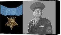 Second World War Canvas Prints - John Basilone and The Medal of Honor Canvas Print by War Is Hell Store