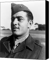 Second World War Canvas Prints - John Basilone Canvas Print by War Is Hell Store