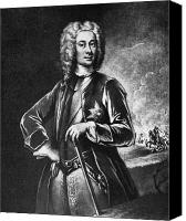 Hairstyle Canvas Prints - John Campbell (1678-1743) Canvas Print by Granger