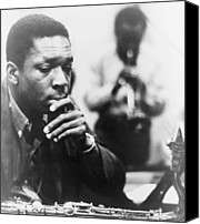 Historical Photo Canvas Prints - John Coltrane 1926-1967, Master Jazz Canvas Print by Everett