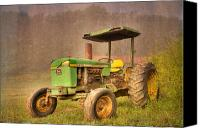 Canvas Greeting Cards Canvas Prints - John Deere 2440 Canvas Print by Debra and Dave Vanderlaan