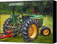Photo-realism Canvas Prints - John Deere 2640 Canvas Print by Paul Baldassini