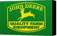Farm Equipment Canvas Prints - John Deere Farm Equipment Sign Canvas Print by Randy Steele