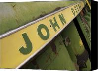 Farm Equipment Canvas Prints - John Deere Canvas Print by Jeff Ball