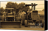 John Deere Tractor Canvas Prints - John Deere Tractors Canvas Print by Wingsdomain Art and Photography