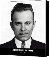 Indiana Canvas Prints - JOHN DILLINGER - BANK ROBBER and GANG LEADER Canvas Print by Daniel Hagerman