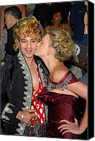 Metropolitan Museum Of Art Costume Institute Canvas Prints - John Galliano, Charlize Theron Wearing Canvas Print by Everett