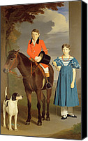Aristocrat Canvas Prints - John Gubbins Newton and his Sister Mary Canvas Print by Robert Burnard
