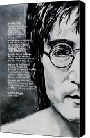 Beatles Canvas Prints - John Lennon - Imagine Canvas Print by Eddie Lim