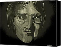 Silver Moonlight Canvas Prints - John Lennon 4 Canvas Print by Mark Moore