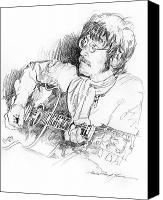 Gibson Guitar Canvas Prints - John Lennon Canvas Print by David Lloyd Glover
