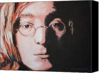 Beatles Pastels Canvas Prints - John Lennon  Imagine Canvas Print by Sharon Morley  APS
