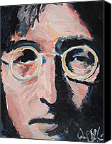 Jon Baldwin Art Canvas Prints - John Lennon  Canvas Print by Jon Baldwin  Art