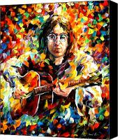Afremov Canvas Prints - John Lennon Canvas Print by Leonid Afremov